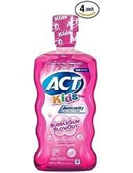 ACT Kids Anticavity Fluoride Mouthwash, Bubble Gum Blow...