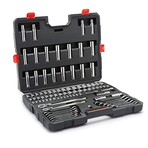 Crescent CTK90 90 Piece Mechanics Tool Set with Ratcheting Wrenches, SAE & Metric