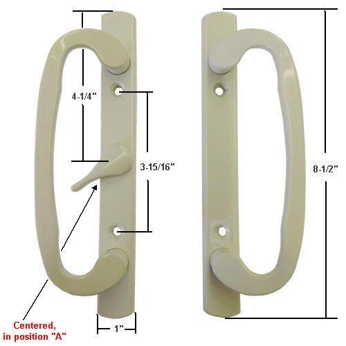 sliding glass door handle beige - 3
