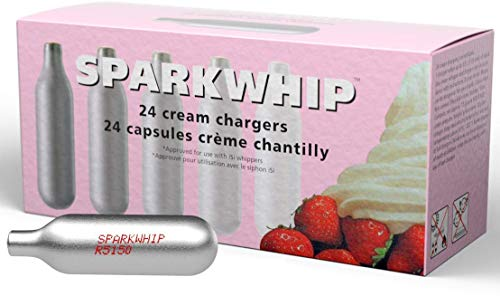 iSi North America Spark Whip Cream Chargers, Silver, Box of