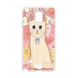 LASHAP Phone Case Of pink cute cat,Hard Case !Slim and Light weight and won't fade, Scratch proof and Water proof.Compatible with All Carriers Allows access to all buttons and ports. For Samsung Galaxy Note 4