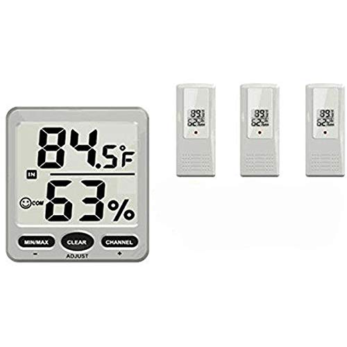 TS-WS-07-X2 8 Channel Wireless Weather Station Indoor Outdoor Thermometer Hygrometer Console + 3Pcs Sensor -Nature Element Measurements Hygrometer - 1 x 8-Channel Wireless Weather - Thermometer King Thermo