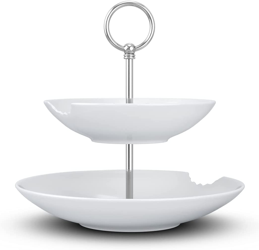 FIFTYEIGHT Food-Tempel//Etagere 2-stufig T023501-2 tiefe Teller mit Biss