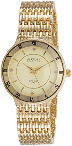 August Steiner Womens As8178yg Yellow Gold Quartz Watch With Gold Dial And Yellow Gold Bracelet