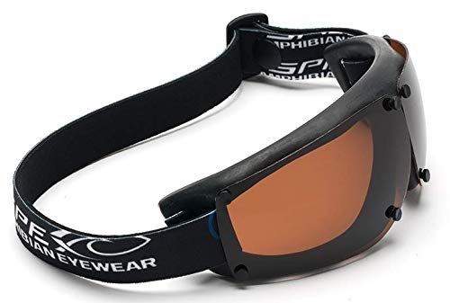 Spex Amphibian Eyewear BLACK with All WEATHER Polarized Lenses. Made in USA. Float. 100% Uv Protection. Spex Are Ideal for all water sports. Protect 2 of Your Most Valuable Assets...Your Eyes. from Spex USA