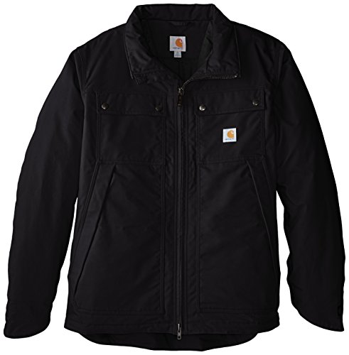 Carhartt Men's Big & Tall Quick Duck Jefferson Traditional Jacket,Black,X-Large/Tall