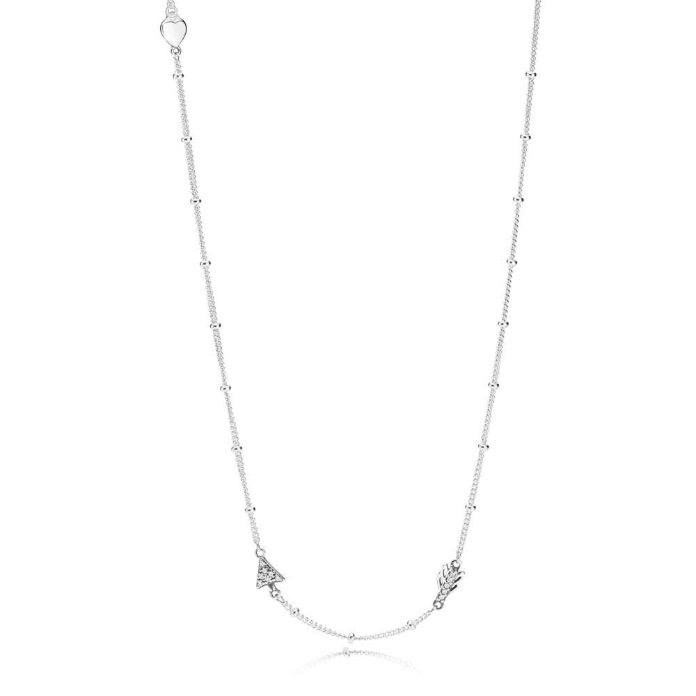 b6528ee80062a Amazon.com: Pandora Sparkling Arrow Silver 27 inches Necklace ...