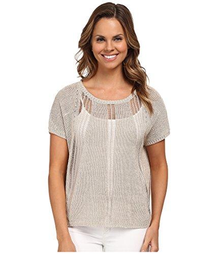 UPC 795728574284, DKNY Jeans Women's Placed Stitch Muscle Tees, Zinc, Medium