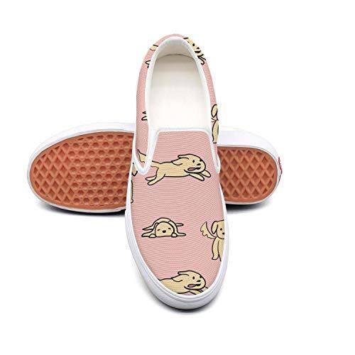 RegiDreae Canvas Slip on Sneakers Women Kawaii Dog pet Fashion Sneaker ()
