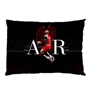 Amili Custom Cotton & Polyester Custom Zippered pillowcase -Air Jordan Michael Jordan Pillow Case Two Side Cover Rectangle Pillowcases Code B
