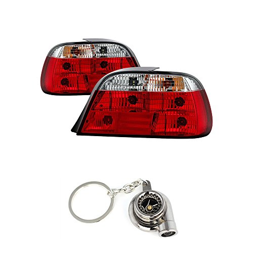 BMW E38 7-Series Crystal Tail Lights Red And Clear Lens+Free Gift Key Chain Spinning Turbo Bearing