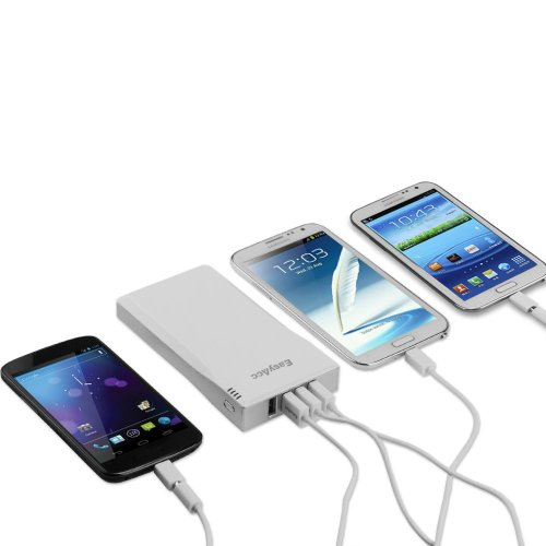 EasyAcc® 12000mAh Power Bank 4 USB 3.5A Output Portable Charger High Capacity External Battery Pack for iPhone 4S 5S 5C, iPad, Nexus 7 10, Galaxy S4 S3 Tab 3 2,Andorid Smartphone, 5V Tablets, Bluetooth Speakers headset, Google Glass, Gopro etc.[Output: 0