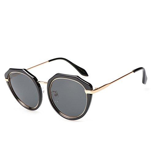 Metal Viaje Silver Black De Irregular Conducción Gafas Anti Unisex De Gafas De Del Marco UV De Personalidad Sol Moda Polarizadas De Soporte xwqv71OR