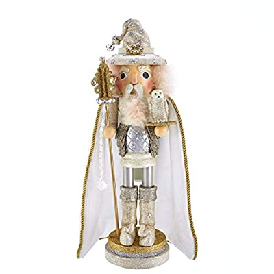 Kurt Adler 17.5-inch Hollywood White Wizard Nutcracker