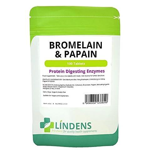 La bromelina y papaína 300 comprimidos 3 Pack 10/100 de ...
