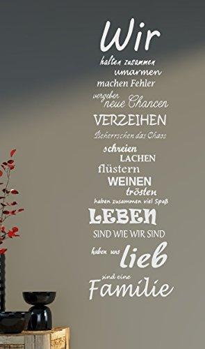 sprüche über familie Wandtattoo Spruch Familie family WIR Haus Liebe Sprüche Spruch ca  sprüche über familie