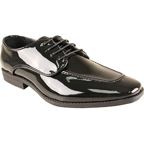Bravo Hombre Tuxedo Shoe Tavis Vestido Oxford Fashion Moc Square Toe Arrugas Free Black Patent