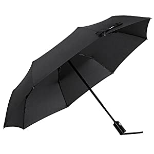 Glamore Compact Travel Umbrella, Windproof Lightweight Auto Open/Close Umbrellas