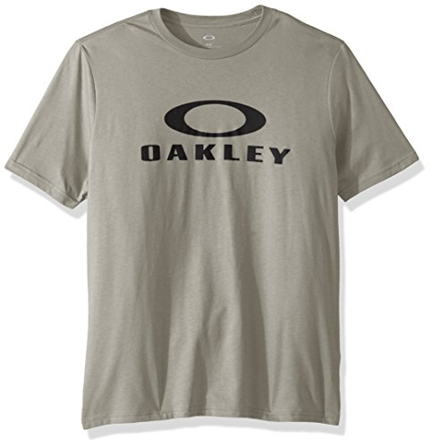 Oakley Men's 50 Bark Ellipse Tee, Stone Gray, XL