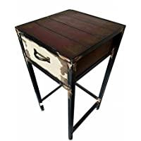 Y&K Decor Metal Antique Night Stand set of 2