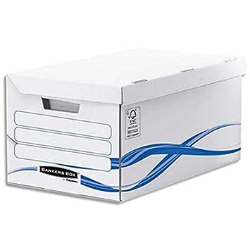 Contenedor System apertura sobre la parte superior + 6 cajas archivadoras (8 cm). Montaje Automático: Amazon.es: Oficina y papelería