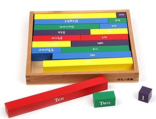 Yigooood Baby Toy numerico asta aste Montessori Math prima infanzia educazione formazione Kid Toy