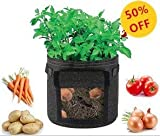 konln 3 Pack Grow Bags 10 Gallons Fabric Garden Planting Container for tomatos potatos vegetables