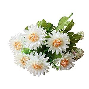 WskLinft Artificial Flower, 1Pc Artificial African Daisy Flower Floral Bouquet Wedding Home Garden Decor - White 60
