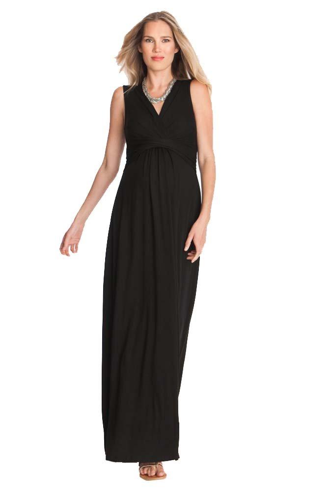 Seraphine Emory Maternity Nursing Maxi Dress - Black - 6 by Seraphine