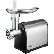 Aicok Electric Meat Grinder, Stainless Steel Meat Mincer & Sausage Stuffer, Heavy Duty Food Grinder Including Sausage Making Kit, Blade & Kubbe Attachment for Home Use &Commercial, ETL Approved