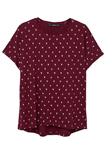 mango-womens-printed-cotton-t-shirt-maroon-l