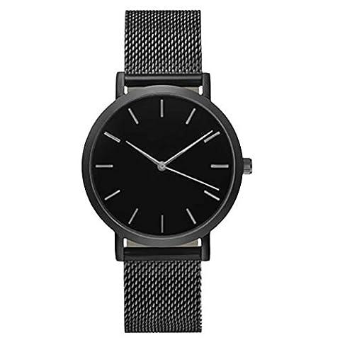Women Fashion Watch,FUNIC Crystal Stainless Steel Analog Quartz Wrist Watch (Black) (Phone Quartz)