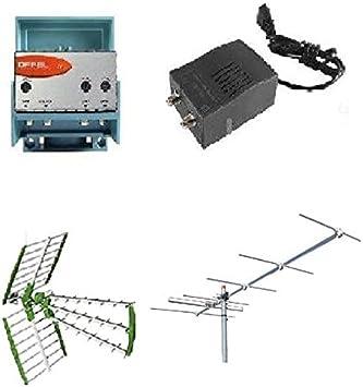 Kit Antena Digital Terrestre DVBT UHF + VHF 6 elementihd + ...