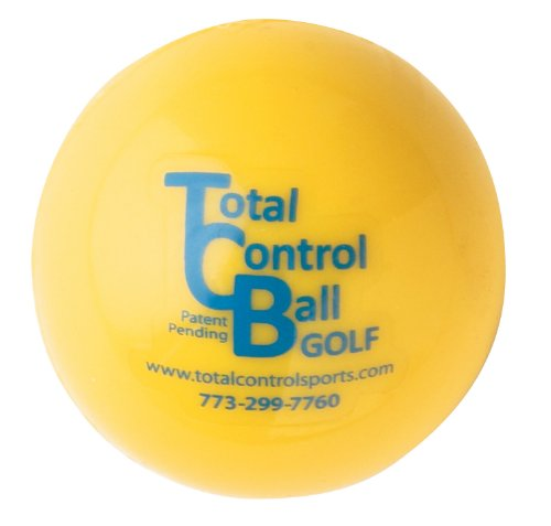 Total Control Golf Ball-Box of 6 (Yellow with Blue Dot, 74-Grams) by Total Control Sports