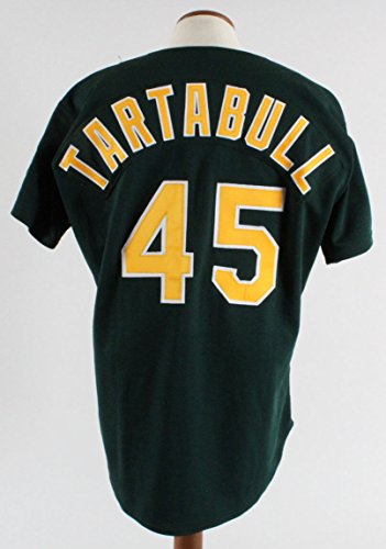 1995 Oakland A's - Danny Tartabull Game-Worn Alternate Jersey (feat. Elephant with Sunglasses Patch) - - Expert Sunglasses
