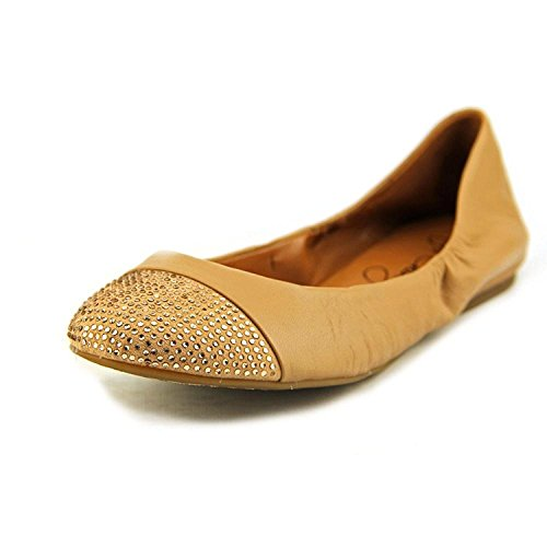 Arturo Chiang Womens Callianna Leather Ballet Flats, Tan, Size 8.5