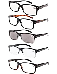 3411212395 5-Pack Spring Hinges Vintage Eyeglasses Men