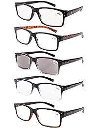 0e597fe17da98 5-Pack Spring Hinges Vintage Eyeglasses Men