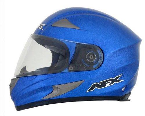 AFX FX-90 Solid Helmet , Gender: Mens/Unisex, Helmet Type: Full-face Helmets, Helmet Category: Street, Distinct Name: Blue Metallic Flake, Primary Color: Blue, Size: Sm 0101-6952