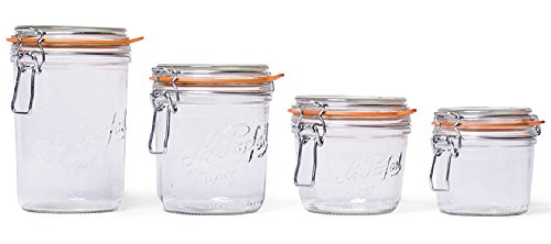 2 Le Parfait Super Terrines - Wide Mouth French Glass Preserving Jars - Zero Waste Packaging (2, 1000ml - 32oz - Quart) by Le Parfait (Image #2)