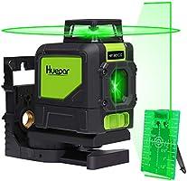 Huepar 901CG Livella Laser 360 Verde 40m con Modalità Impulso, 1X 360 Linea Laser Autolivellante a Croce, Orizzontale a...