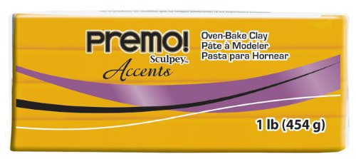 Sculpey Premo Art Clay Accents, Gold