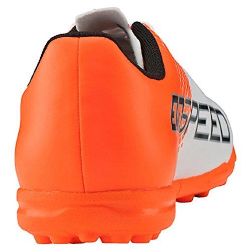 Chaussures De Soccer Pour Homme Puma Evospeed 5.5 Turf 103591 05 Chaussures De Sport Puma Blanc-puma Noir-shocking Orange Taille 7.5
