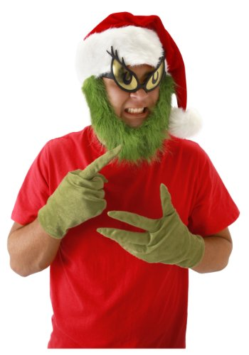 elope Grinch Gloves, Green, One (A Grinch Costume)