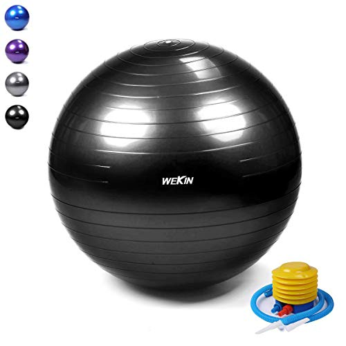 rcise Ball,Office Ball Chair, Balance Trainer Ball, Birthing Ball with Pump for Fitness, Stability&Yoga, Extra Thick 400g Heavier Than Other Same Size,2000lbs (Office and Home) ()
