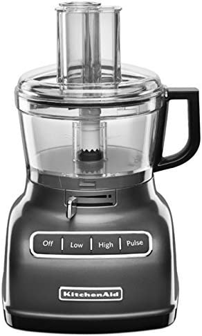 KitchenAid RKFP0722QG 7-Cup Renewed Food Processor with Exact Slice System – Liquid Graphite