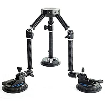 Image of Camera Mounts & Clamps CAMTREE G-51 Professional Gripper Campod Car Mount Stabilizer - Black Triple Vacuum Suction Cup for DSLR Video Camera up to 20kg/44lbs | Free Safety Cable & Protective Bag