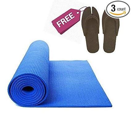 Amazon.com : Sampada Synthetics Bauzooka Blue Yoga Mat ...