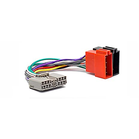 amazon com carav 12 111 iso radio adapter for honda ;mitsubishi wiring schematics citroen wiring harness #31