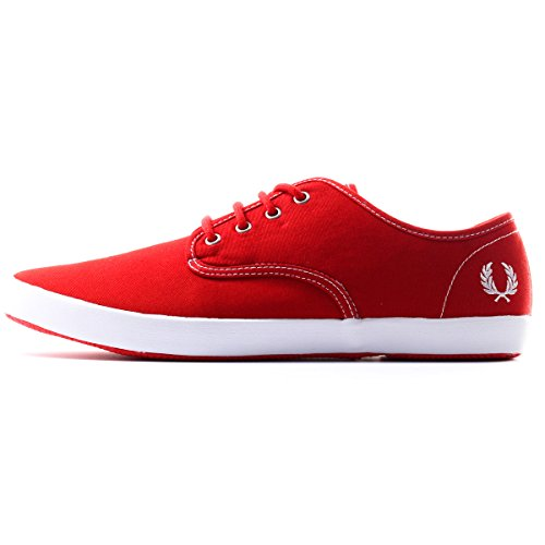 Fred Perry Men's Foxx Canvas Sneaker,Fire Red,9 UK/10 M US